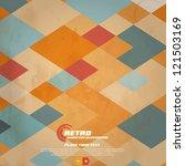retro geometric background.... | Shutterstock .eps vector #121503169