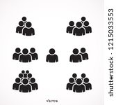 illustration of crowd of people ...   Shutterstock .eps vector #1215033553