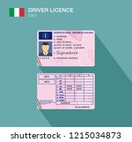 italian car driver license... | Shutterstock .eps vector #1215034873