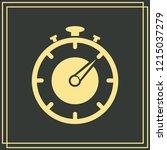 stopwatch vector icon 10 eps   Shutterstock .eps vector #1215037279
