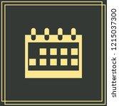 calendar icon isolated on green ...   Shutterstock .eps vector #1215037300