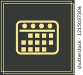 calendar icon isolated on green ...   Shutterstock .eps vector #1215037306