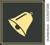 bell icon vector. flat design...   Shutterstock .eps vector #1215037330