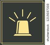 siren icon vector. flat design...   Shutterstock .eps vector #1215037333