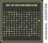 set universal modern icons for...   Shutterstock .eps vector #1215037336