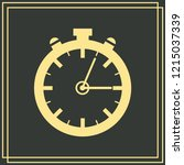 stopwatch vector icon 10 eps   Shutterstock .eps vector #1215037339