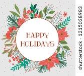 season greeting card. merry...   Shutterstock .eps vector #1215038983