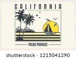 tropical slogan with ocean....   Shutterstock .eps vector #1215041290