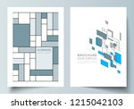 the vector layout of a4 format... | Shutterstock .eps vector #1215042103