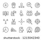 set of job seach icons  such as ... | Shutterstock .eps vector #1215042340
