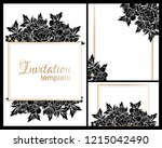 invitation greeting card with... | Shutterstock .eps vector #1215042490