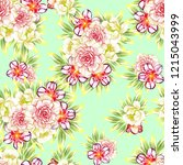 flower print in bright colors.... | Shutterstock . vector #1215043999