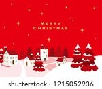 christmas landscape illustration | Shutterstock .eps vector #1215052936