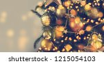 closeup of christmas tree... | Shutterstock . vector #1215054103