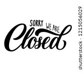 sorry we are closed hand... | Shutterstock .eps vector #1215056029