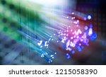 abstract optical fibers on... | Shutterstock . vector #1215058390