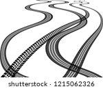 vector print textured tire... | Shutterstock .eps vector #1215062326