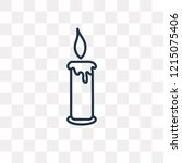 blowing candle vector outline... | Shutterstock .eps vector #1215075406