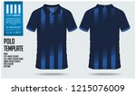 3 stripes of blue polo t shirt... | Shutterstock .eps vector #1215076009