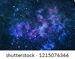 deep space many light years far ... | Shutterstock . vector #1215076366