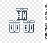 boxes concept vector linear... | Shutterstock .eps vector #1215079483