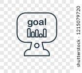 goal concept vector linear icon ...