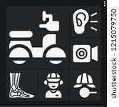 set of 6 person filled icons... | Shutterstock .eps vector #1215079750