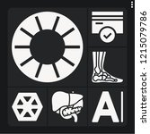 set of 6 people filled icons... | Shutterstock .eps vector #1215079786