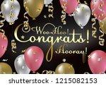congratulations vector... | Shutterstock .eps vector #1215082153
