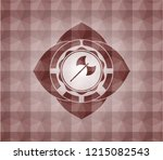 medieval axe icon inside red... | Shutterstock .eps vector #1215082543