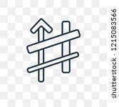 sharp vector outline icon... | Shutterstock .eps vector #1215083566