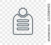 agenda concept vector linear... | Shutterstock .eps vector #1215084403