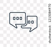 chat vector outline icon... | Shutterstock .eps vector #1215084970