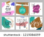 christmas and new year posters... | Shutterstock .eps vector #1215086059