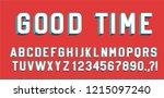 good time retro lettering 3d... | Shutterstock .eps vector #1215097240