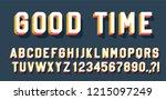 good time retro lettering 3d... | Shutterstock .eps vector #1215097249