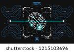 finger print scanning... | Shutterstock .eps vector #1215103696