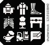 set of 9 man filled icons such... | Shutterstock .eps vector #1215103840