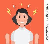 anger. the evil woman expresses ... | Shutterstock .eps vector #1215104029