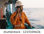 bosun or ab seaman on deck of... | Shutterstock . vector #1215104626