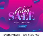 black friday sale text with 70  ... | Shutterstock .eps vector #1215109759