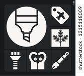 set of 6 collection filled... | Shutterstock .eps vector #1215118009