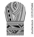 maori tribal art pattern. good... | Shutterstock .eps vector #1215125686