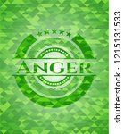 anger green emblem with mosaic... | Shutterstock .eps vector #1215131533