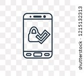 accepted vector outline icon... | Shutterstock .eps vector #1215132313