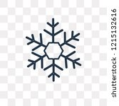 snowflake vector outline icon... | Shutterstock .eps vector #1215132616