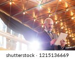 low angle view of confident...   Shutterstock . vector #1215136669