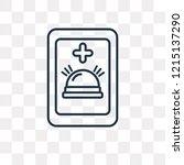 emergency call vector outline... | Shutterstock .eps vector #1215137290