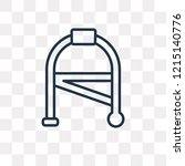 walker vector outline icon...   Shutterstock .eps vector #1215140776