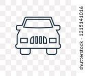 rectangular car front vector...   Shutterstock .eps vector #1215141016